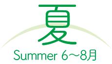 夏 summer:6〜8月